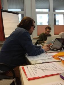 Alexander Becker und Kursteilnehmer Philipp Heidenreich