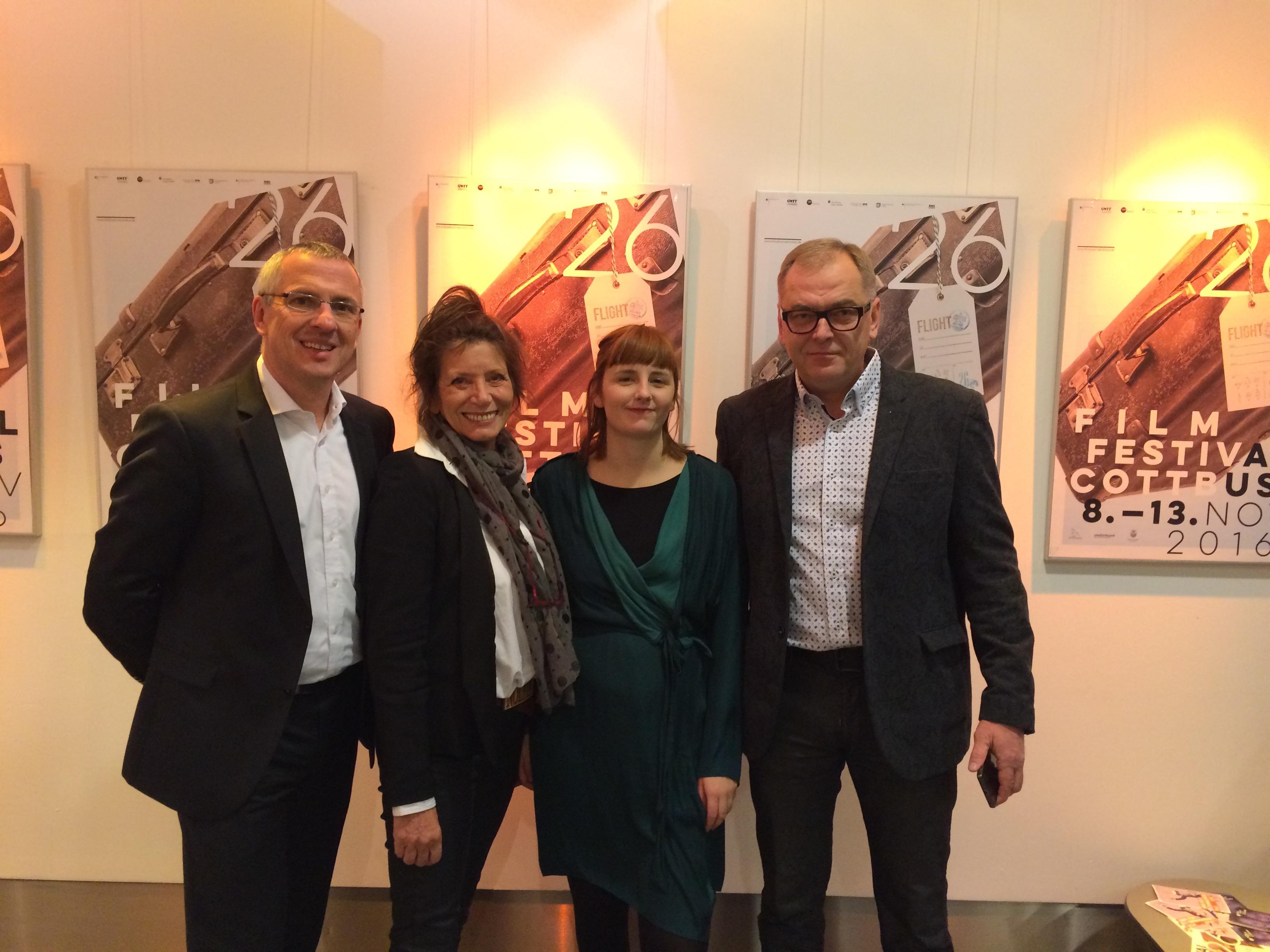 Die Jury 2016 von links nach rechts: Stefan Förner, Berlin, Rita Weinert, Hamburg, Charlotte Timmerman, Brüssel, Gatis Lidums, Riga